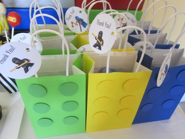 Lego Birthday Party Favor Bags