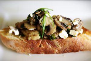 mushroom bruscheta