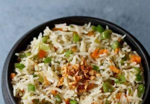 Basil & Burnt Garlic Rice